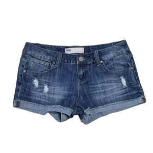 RSQ Size 7 Malibu Distressed Jean Shorts